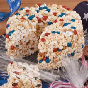 Patriotic Popcorn Cake