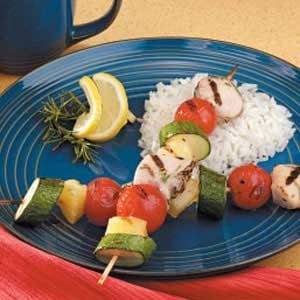 Honey Rosemary  Chicken Kabobs