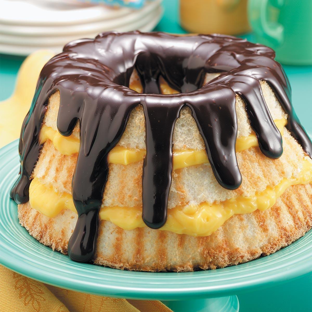 Boston Cream Angel Cake Recipe Taste Of Home