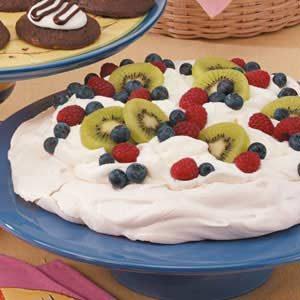 Pavlova with Fresh Fruit