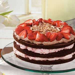 Strawberry Almond Chocolate Torte