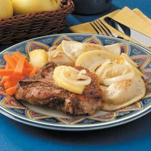 Pork Chops 'n' Pierogies