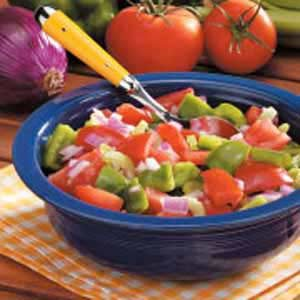 Green Pepper Tomato Salad