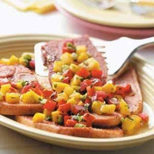 Ham with Mango Salsa