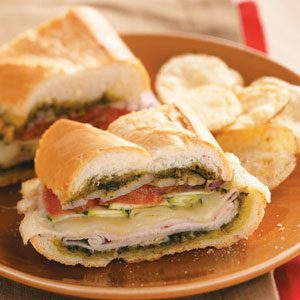 Pesto-Turkey Layered Loaf
