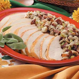Turkey with Bacon Cherry Stuffing
