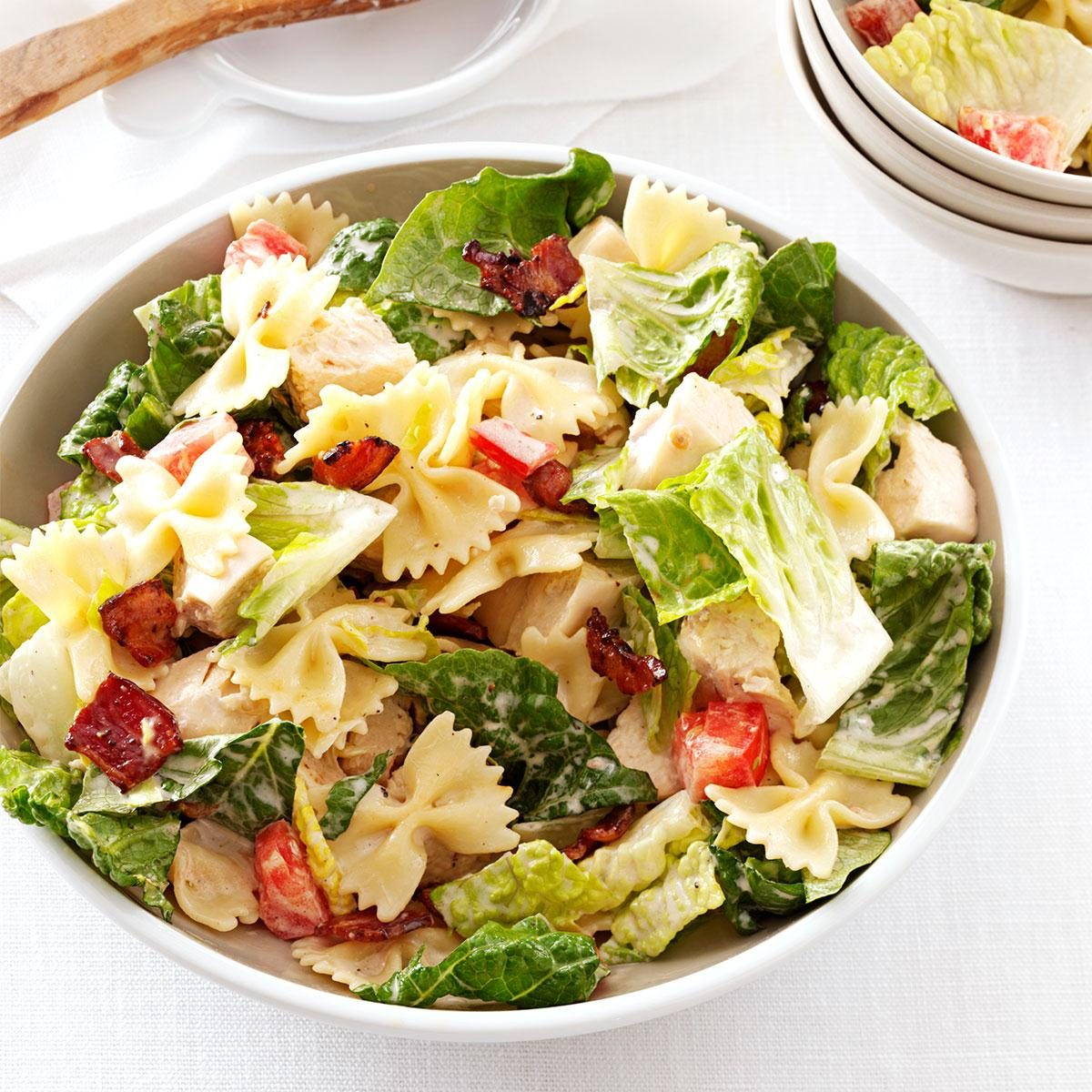 Blt Bow Tie Pasta Salad Recipe Taste Of Home