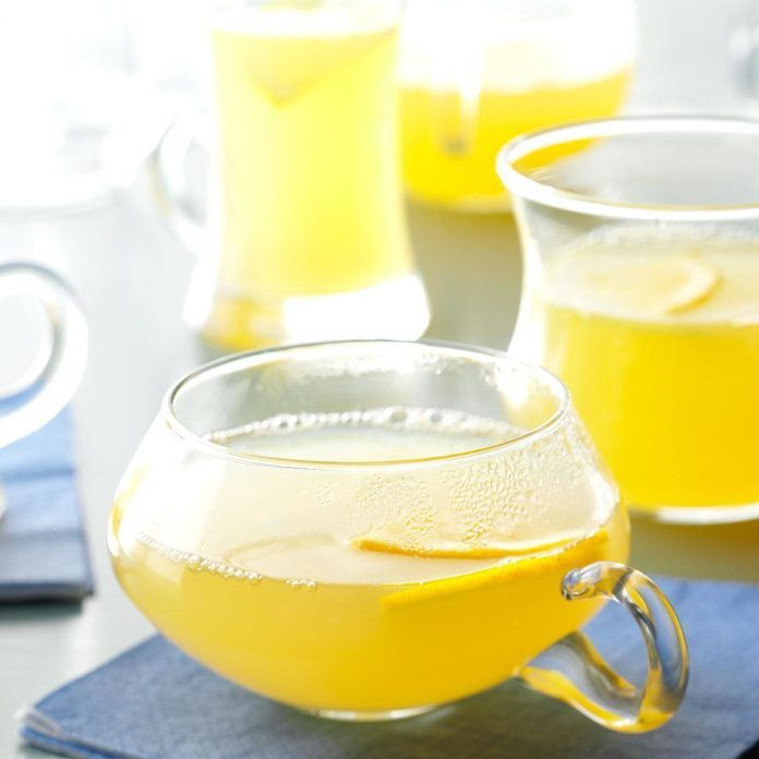 Hot Spiced Lemon Drink