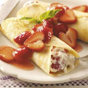 Strawberry Mascarpone Crepes