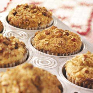 Nut-Topped Strawberry Rhubarb Muffins