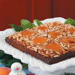 Apricot Almond Upside-Down Cake