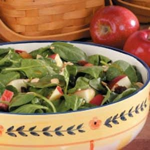 Apple Peanut Spinach Salad
