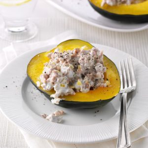 Quick Sausage-Stuffed Squash