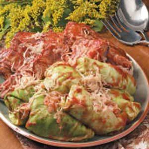 Ribs 'N' Stuffed Cabbage