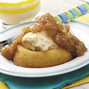 Pineapple-Caramel Sponge Cakes