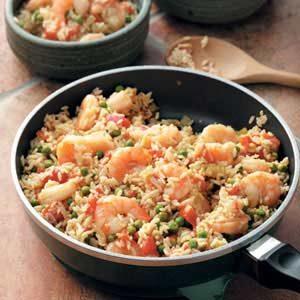 Skillet Shrimp Jambalaya