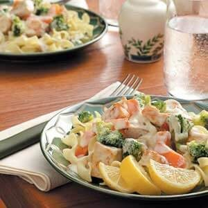 Creamy Swordfish on Noodles