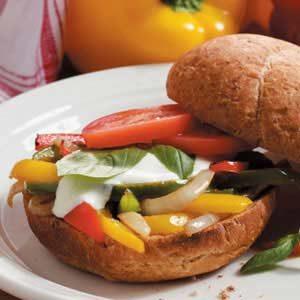 Sweet Pepper Sandwiches