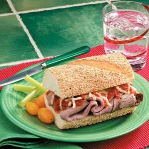 Mozzarella Beef Sandwiches