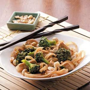 Stir-Fried Chicken and Rice Noodles