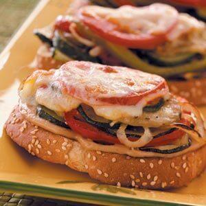Open-Faced Garden Veggie Sandwiches