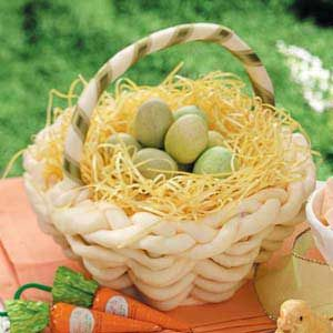 White Chocolate Easter Basket