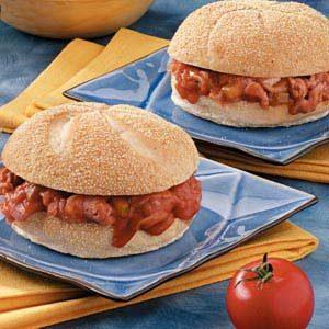 Barbecue Ham Sandwiches