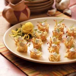 Garlic-Herb Potato Nests