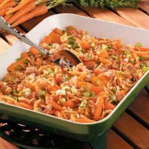 Onion-Bacon Baby Carrots