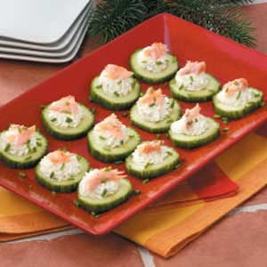 Smoked Salmon Cucumbers