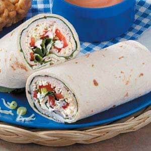 Spinach Turkey Wraps