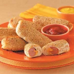 Sesame Hot Dogs