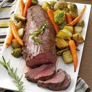 Beef Tenderloin with Roasted Vegetables
