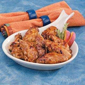 Peachy Chicken Wings