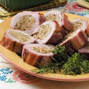 How long to cook boneless stuffed pork roast in oven