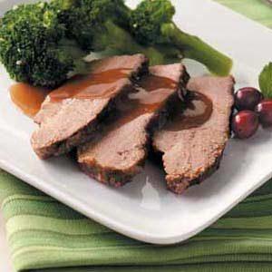 Beef Brisket with Cranberry Gravy