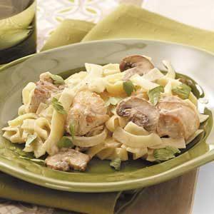 Mushroom Chicken Alfredo