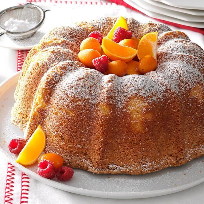 Homemade Sour Cream Pound Cake Scratch