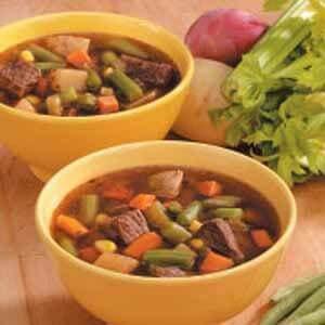 Chunky Veggie Beef Soup