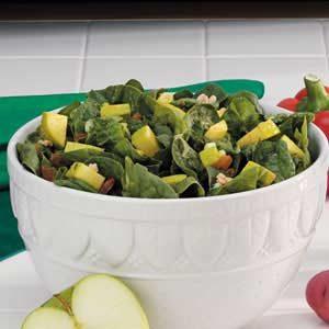 Apple-Raisin Spinach Salad