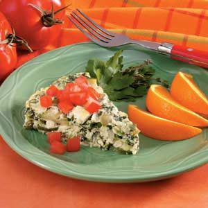 Crustless Mushroom-Spinach Quiche