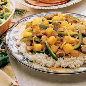 Asian Sweet and Sour Pork with Rice