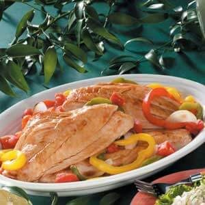 Grouper with Sweet Peppers
