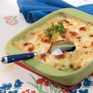 Golden Scalloped Potatoes
