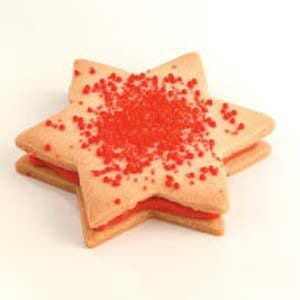 White Chocolate Star Sandwich Cookies