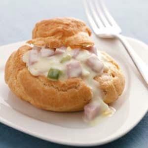 Ham 'n' Egg Cream Puffs