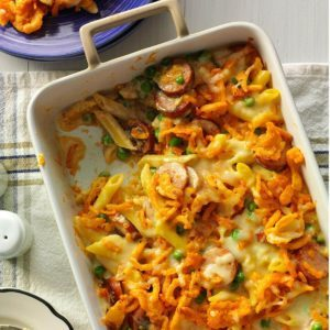 50 easy baked dinners to make tonight taste of home penne and smoked sausage forumfinder Choice Image