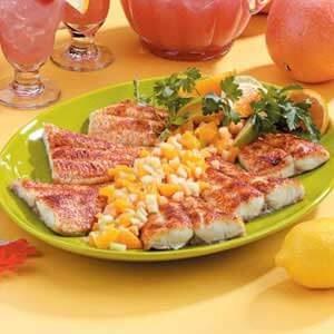 Cajun Catfish with Fruit Salsa