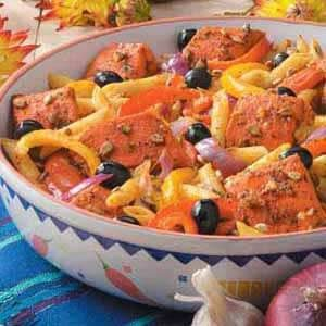 Lemony Salmon and Pasta