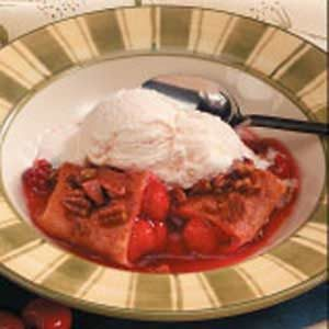 Saucy Cherry Enchiladas